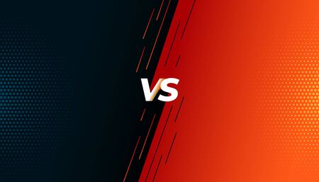 versus vs fight battle screen background design 向量圖像