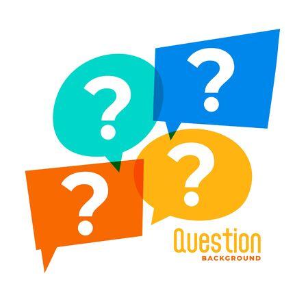 question mark sign in speech bubble style Иллюстрация