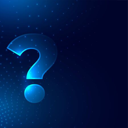 question mark sign on glowing digital style background