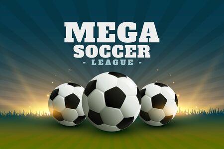 Hintergrund der Fußball- oder Fußballliga-Meisterschaft