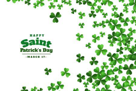happy saint patricks day green clover leaves background Vektorgrafik