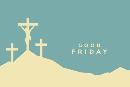 good friday flat color style background design