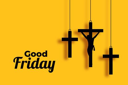 good friday and easter day cross background