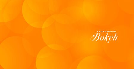 attractive orange bokeh banner with text space