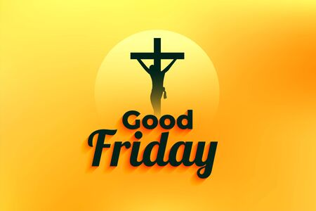 good friday event background with jesus christ crucifixion
