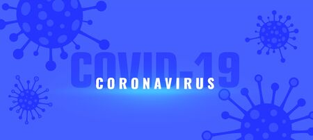 coronavirus covid-19 outbreak pandemic background with viruses