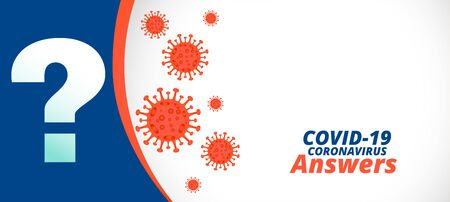 Covid-19 coronavirus questions and answers or help support banner