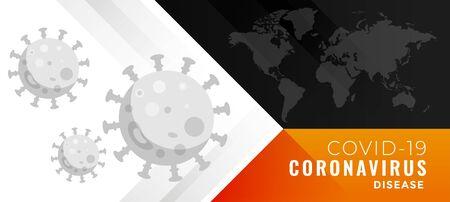 coronavirus covid-19 disease global outbreak banner design 向量圖像