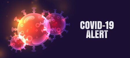 novel coronavirus covid-19 pandemic alert banner design