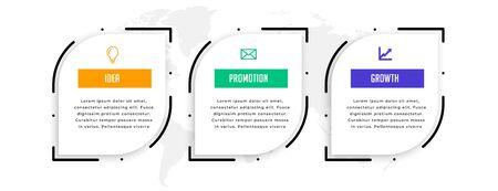 modern three steps timeline infographic template design