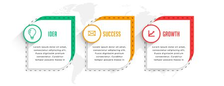 professional three steps business infographics template design