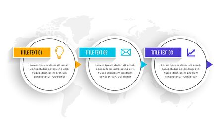 three steps infographic elements timeline template design