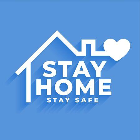 restez à la maison et restez en sécurité conception d'affiches de concept
