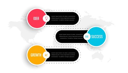modern three steps business professional infographics template 向量圖像