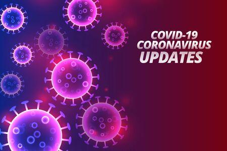 covid-19 coronavirus updates and news background design