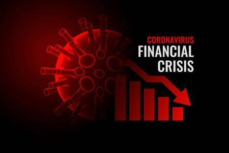 coronavirus covid-19 financial crisis economy downfall background Illustration
