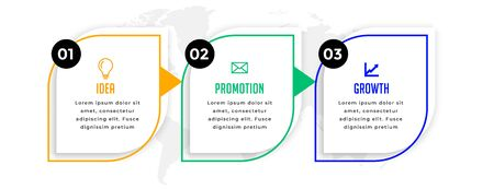 modern business professional infographic with three steps 向量圖像