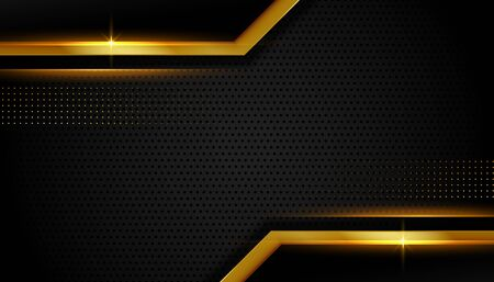 abstract golden lines luxury dark background design