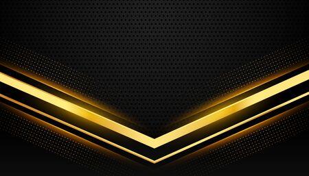 stylish black and gold background with text space Vektoros illusztráció