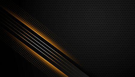 abstract dark background with glowing lines design Vektoros illusztráció