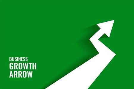 green growth arrow showing upward trend background