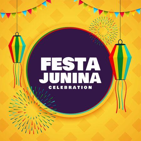 festa junina festival celebration decorative background design