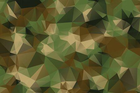 Low-Poly-Stil Tarnmuster Textur Hintergrund