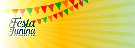 festa junina carnival festival banner with text space Illustration