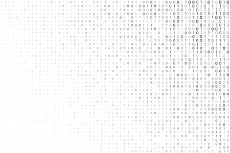 digital white background with binary code numbers Illustration