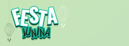 festa junina festival banner with text space Illustration
