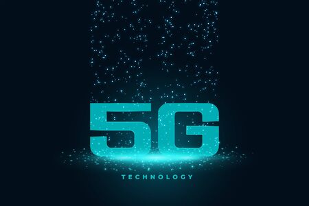 fith generation 5G technology concept techno background design