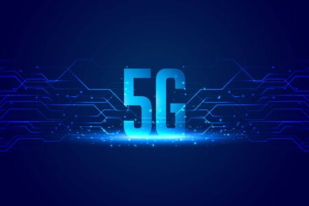 digital 5G technology concept background for superfast speed