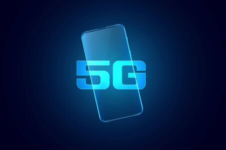 5G fifth generation mobile superfast technology background design