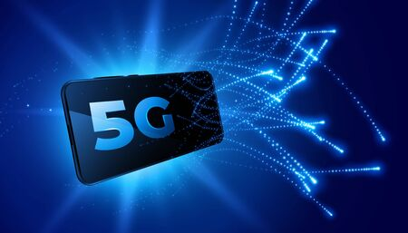5G mobile technology fifth generation telecom network background