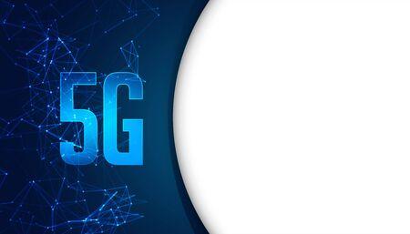 5g fifth generation mobile technology concept background design