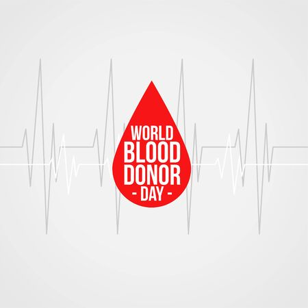 world blood donor day concept background design