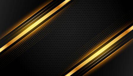 premium black and gold lines abstract background Vektoros illusztráció