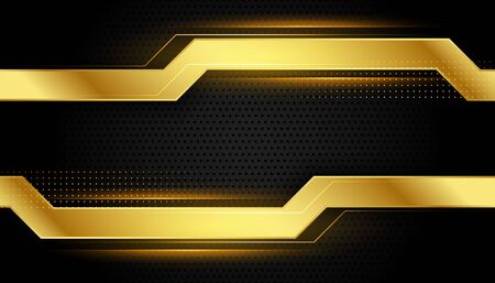 glänzendes goldenes und schwarzes Hintergrunddesign im geometrischen Stil