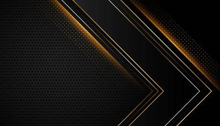 abstract shiny black and golden background design Vektoros illusztráció