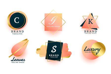 luxury logos or wedding monograms collection design Logo