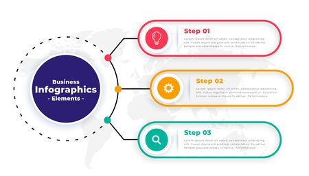 tree steps modern business infographic template design