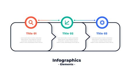 three steps modern directional infographic template design