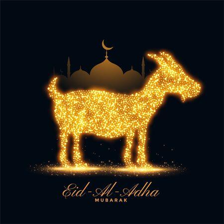 eid al adha islamic bakrid festival background design