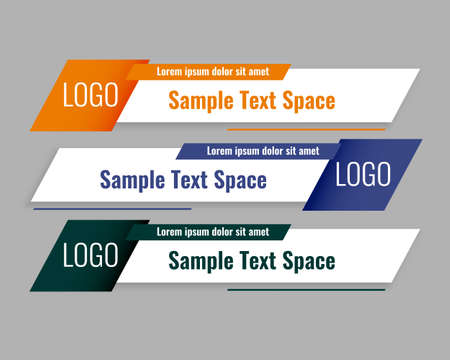 modern style lower third banners template set