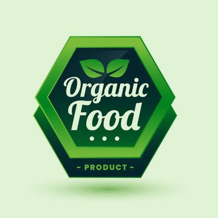 green organic food label or sticker design