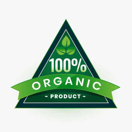 organic product green label or sticker design