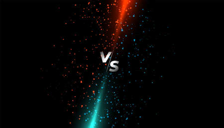 red and blue light sparkle versus vs screen Illusztráció