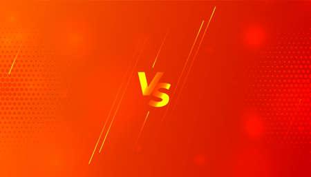 orange versus vs screen banner design template
