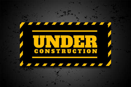 under construction industrial background in yellow black stripes Ilustração