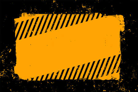 abstract yellow and black grunge style background Ilustração